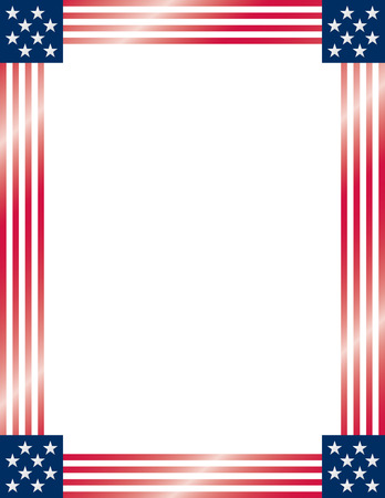 American Flag Frame. Vector.