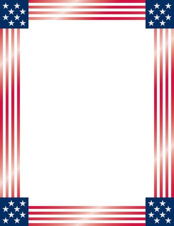 flag: American Flag Frame. Vector.