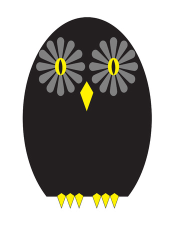Vector illustration of an owl on white background