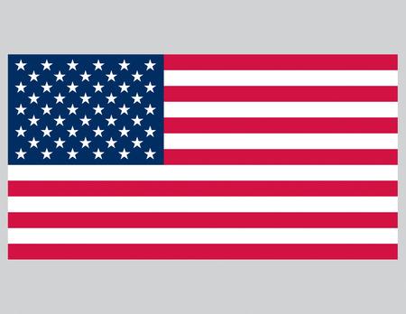 アメリカの国旗のベクトル イラスト。正確なプロポーション。