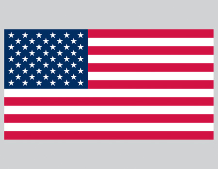 Vector illustration of the American Flag. Accurate proportions. Vector