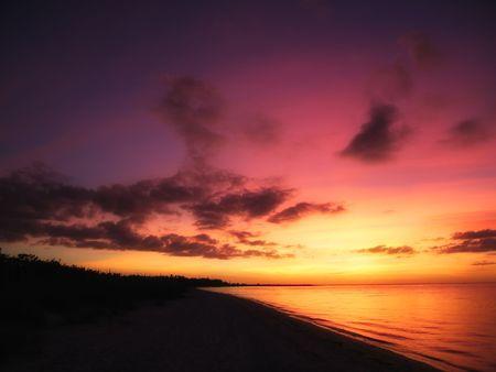 美しい熱帯の夕日 写真素材