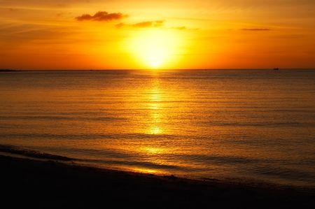 夏の日没 写真素材