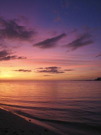 動的な夕日