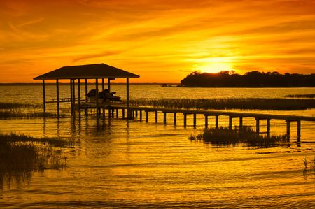 boathouse: Boathouse Sunset