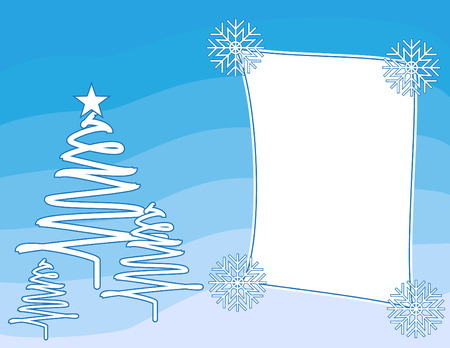 Christmas background vector with a frame Stock Vector - 3879770