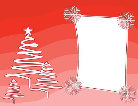 赤いクリスマス背景ベクトル フレーム  イラスト・ベクター素材
