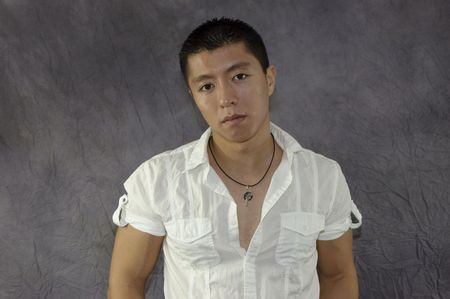 Serious Asian Male Stock Photo - 3992668