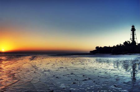 Lighthouse at Sunrise Stok Fotoğraf
