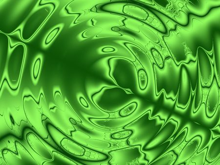 Green Ripples Background Stock Photo