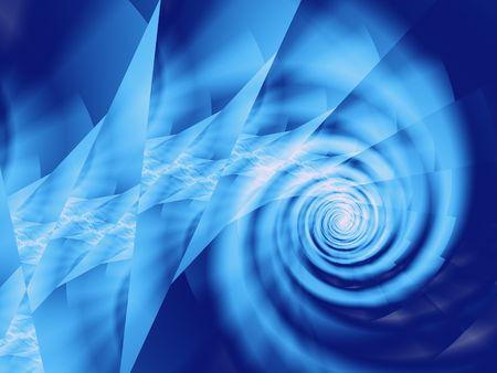 青いエネルギー スパイラル背景