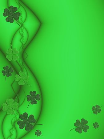 St. Patricks Day Background with Shamrock Theme photo