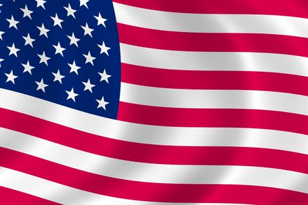 Cropped American Flag in the Wind