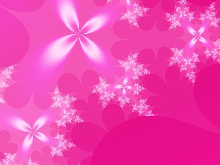 ホットのピンクの花の背景
