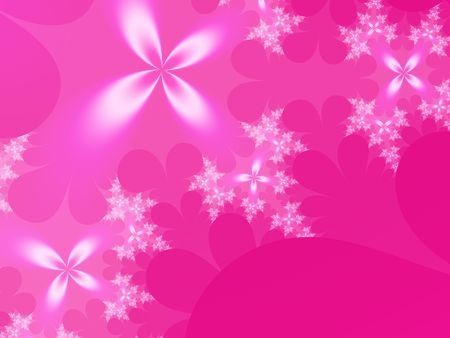 Hot Pink Flowers Background Stock Photo