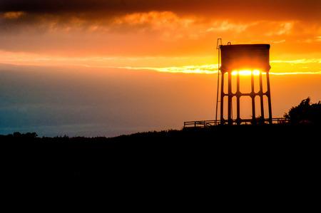 wody wieży: Water tower in Pennard Zdjęcie Seryjne