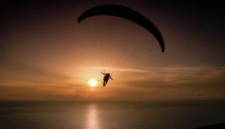 paraglider: paraglider over Gower