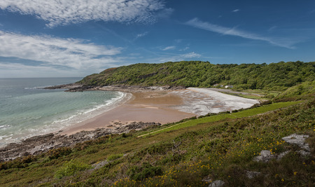 smuggling: Pwll Du Bay on the gower peninsular in south Wales was once an extensive limestone quarry and also a popular smuggling cove.