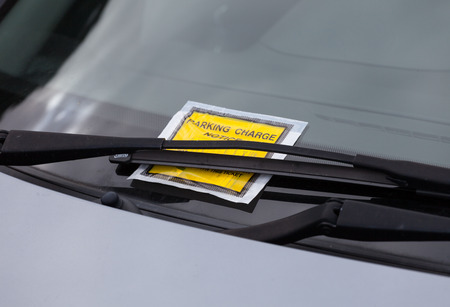 Penalty charge ticket for illegal car parking in the UK.