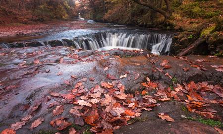 horseshoe falls: The horseshoe falls Sgwd y Bedol South Wales Stock Photo