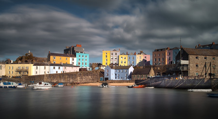 tenby wales: Tenby harbour in Pembrokeshire, the holiday capital of West Wales
