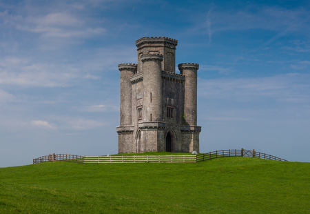 samuel: Paxtons Tower Perched on a hilltop near Llanarthney in the Towy Valley, a folly designed by the Samuel Pepys Cockerell and built by Sir William Paxton in honour of Lord Nelsons victory at Waterloo.