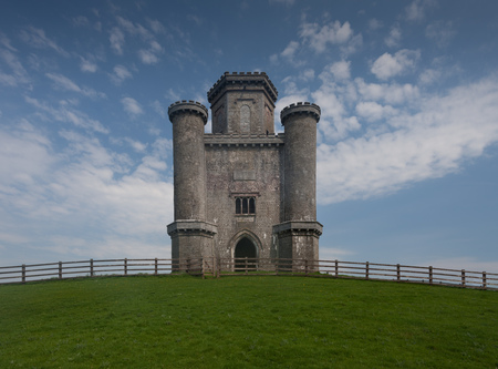 samuel: Paxtons Tower Wales Perched on a hilltop near Llanarthney in the Towy Valley, a folly designed by the Samuel Pepys Cockerell and built by Sir William Paxton in honour of Lord Nelsons victory at Waterloo.