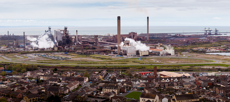 steel works: Tata Steel Plant at Port Talbot, South Wales, under threat of closure due to cheap imported steel from China