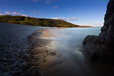 smuggling: Pwll Du Bay Pwll Du Bay on the Gower peninsula in South Wales, mainly covered in pebbles, used to be an extensive limestone quarry and also a popular smuggling cove.