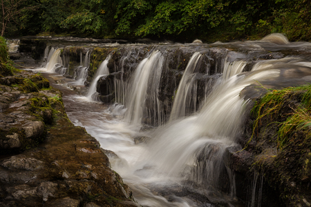 gully: The gully leading to Panwar, or Sgwd y Pannwr waterfall on the Mellte river, near Pontneddfechan in South Wales, UK.