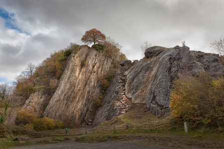 crack climbing: Dinas Rock at Pontneddfechan Dinas Rock is a rock climbers paradise, situated in Pontneddfechan near Glynneath, South Wales, in the heart of waterfall country.