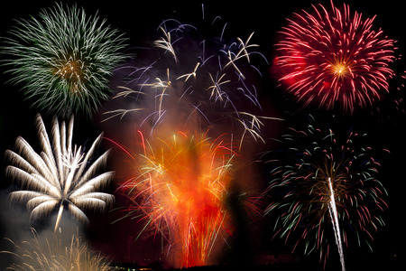 Bonfire night firework explosion Firework display at St Helens sports ground in Swansea UK