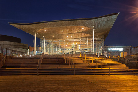 The Senedd, also known as the National Assembly building, was opened by Queen Elizabeth II on 1 March 2006 in Cardiff, South Wales and is the location of the Welsh Parliament.