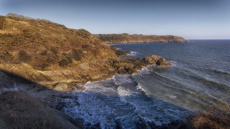 Brandy Cove on the South side of the Gower peninsula in Swansea which was used as a smugglers cove in years gone by.