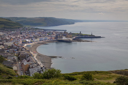 Editorial Aberystwyth, UK - July 08, 2019: Aberystwyth, an ancient market town, administrative centre, community, and holiday resort in Ceredigion, Wales, UK.