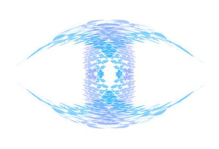 similar: emblem similar to the eye, vector illustration.