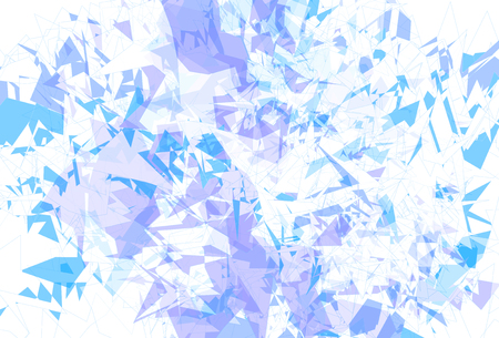 fragments: Detailed background ice fragments texture, vector illustration