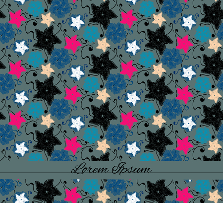 brigt: Background with seamless flower pattern.