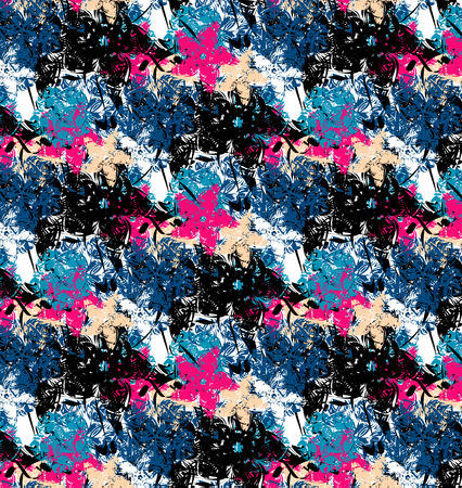 sloppy: Abstract floral background, sloppy pattern, vector illustration