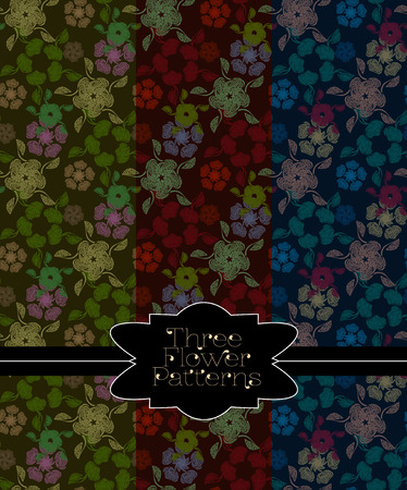 marsh: Pattern collection for making seamless backgrounds. Blue, red, marsh