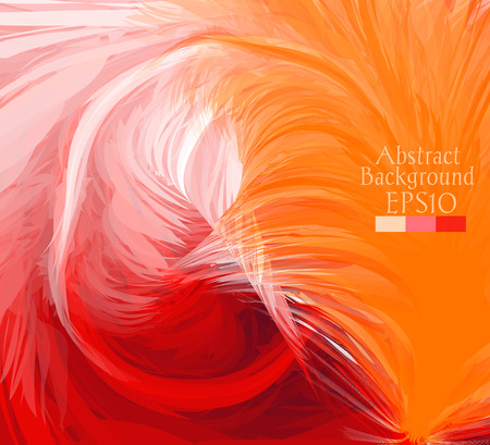 be the identity: Macro feathers. The abstract background drawn with a brush feather. Can be used for web pages, identity style, printing, invitations, banners, cards, leaflets, cover. Vector illustration
