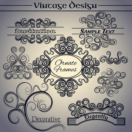 indent: vintage design elements. Making antique postcards, letters, documents, invitations, posters