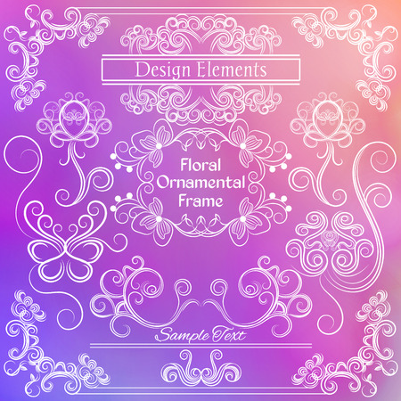 indent: Vector floral design elements.
