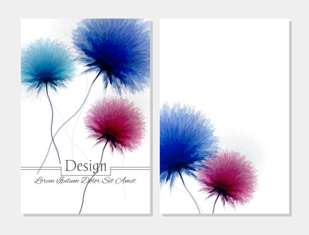 portadas de libros: Conjunto de diseño vectorial templates.Corporate Identidad kit o kit de negocio con un diseño colorido artístico, extracto para su negocio. Vector cubrir folleto abstracto. folleto de belleza. rosa azul y blanco
