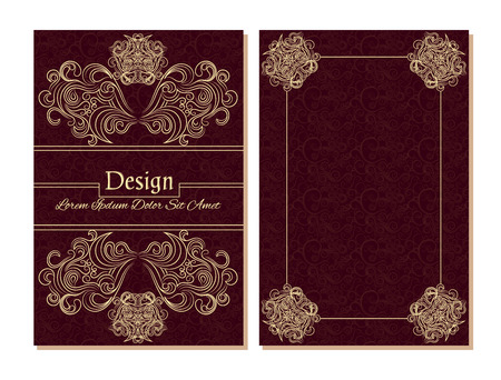 Vector design templates. Diploma template. Abstract colorful design  for your business. Vector abstract booklet cover. Beauty brochure. Book cover. Burgundy color