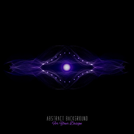 entity: Abstract vector background. Futuristic style card. Abstract alien organism or cell. Black and purple color Illustration