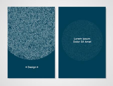 Modèle de conception de vecteur. Modèle de carte moderne. Il peut être utilisé comme invitation, couverture, carte de v?ux ou bannière. Design artistique et abstrait pour votre entreprise. Couleur céruléenne sombre