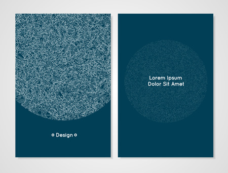 cerulean: Vector design template. Modern card template. It can be used as an invitation, cover, greeting card or banner. Artistic, abstract design for your business. Dark cerulean color