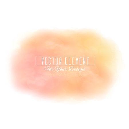 Vector watercolor spot. Watercolor background. Colorful abstract texture. Bright watercolor stain. Vector art banner. Peach colors Ilustracja
