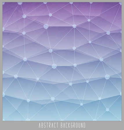 polyhedral: Abstract geometric polygon facet background mosaic made by triangles. Vector illustration
